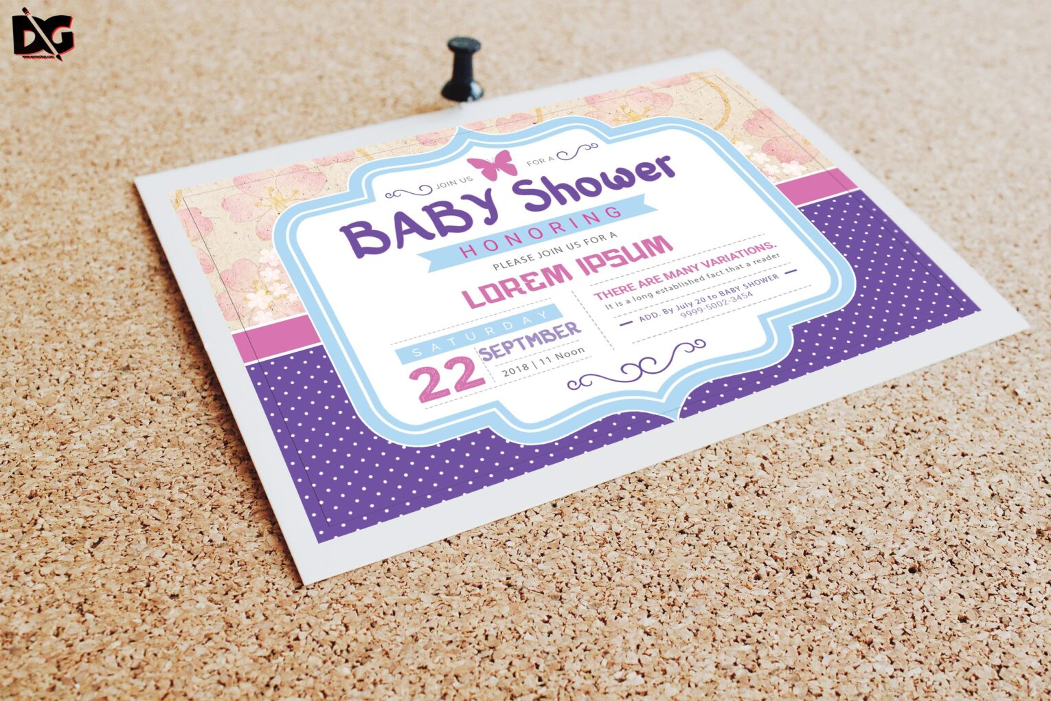 Free Download Baby Invitation Shower Template