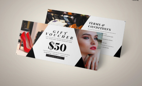 Free Download Beauty Parlor PSD Gift Card Template