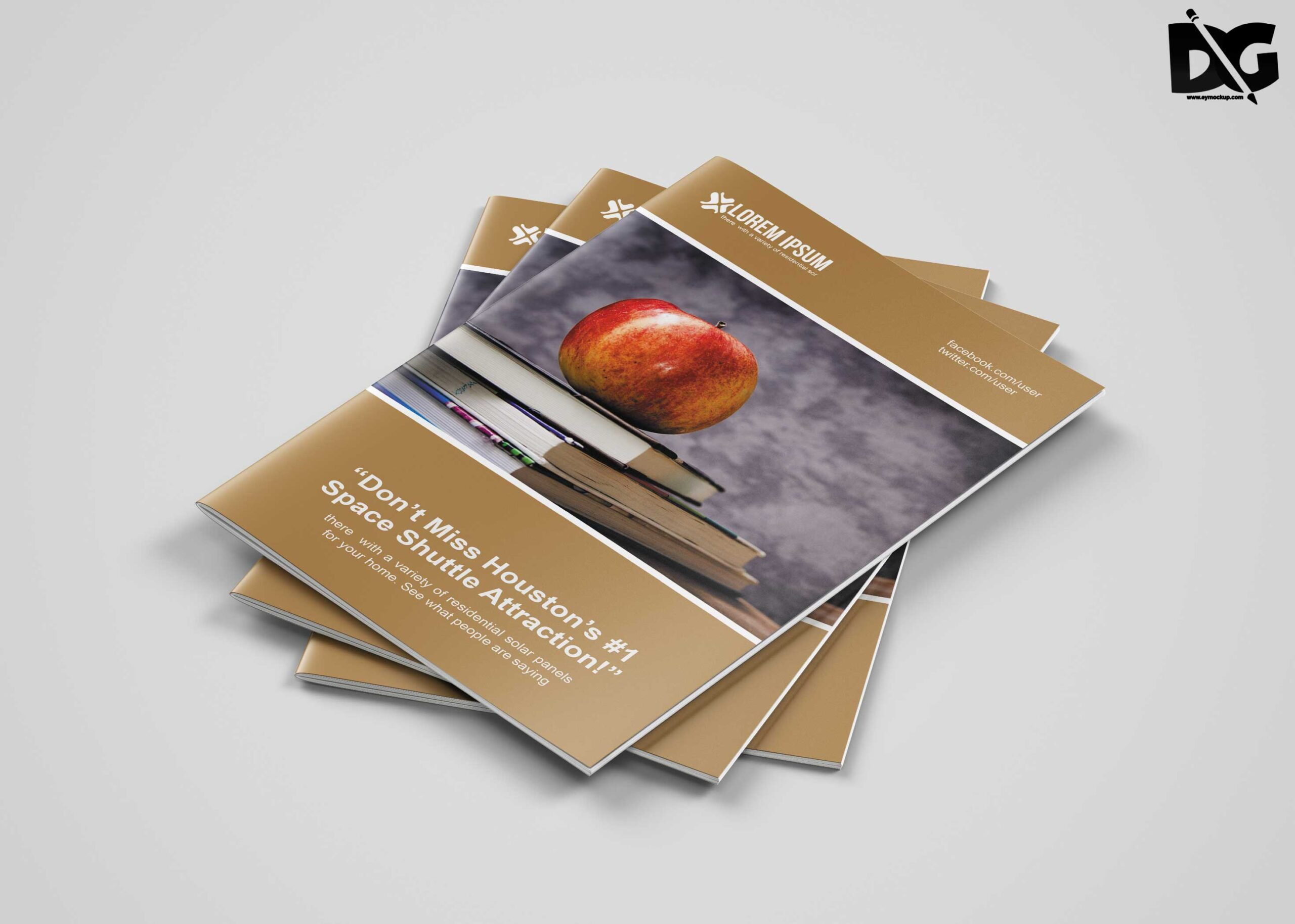 Free Download Bi-Fold Fruit Production Company Brochure Template