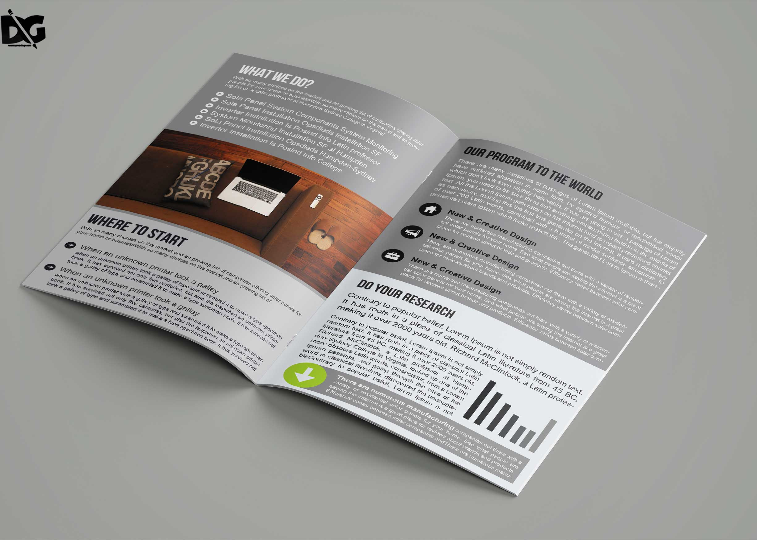 Free Download Bi-Fold Timeline Magazine Brochure Template