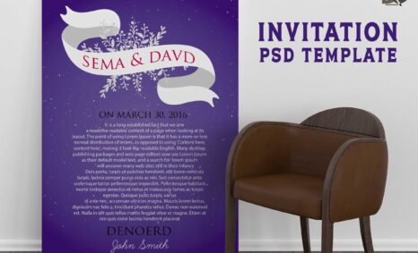 Free Download Birthday Party Invitation PSD Template