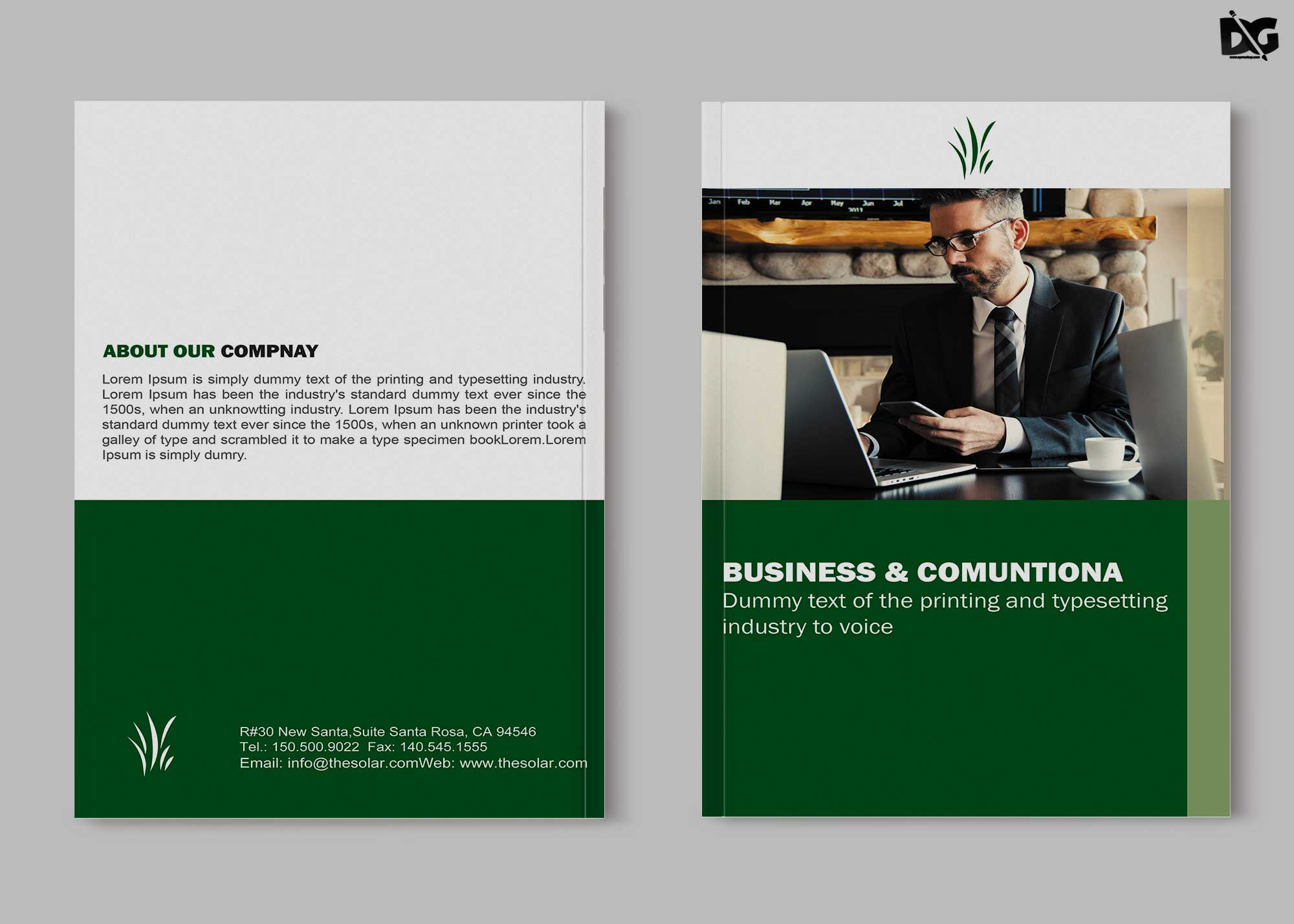Free Download Business Annual Meet Bi-Fold Brochure Template