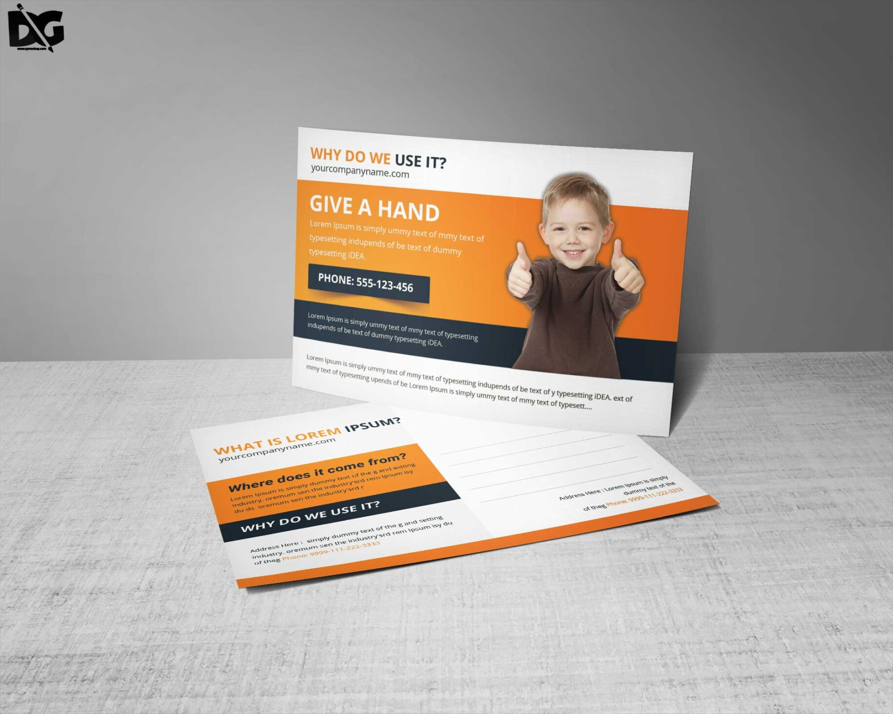Free Download Child Charity Premium Post Card Template