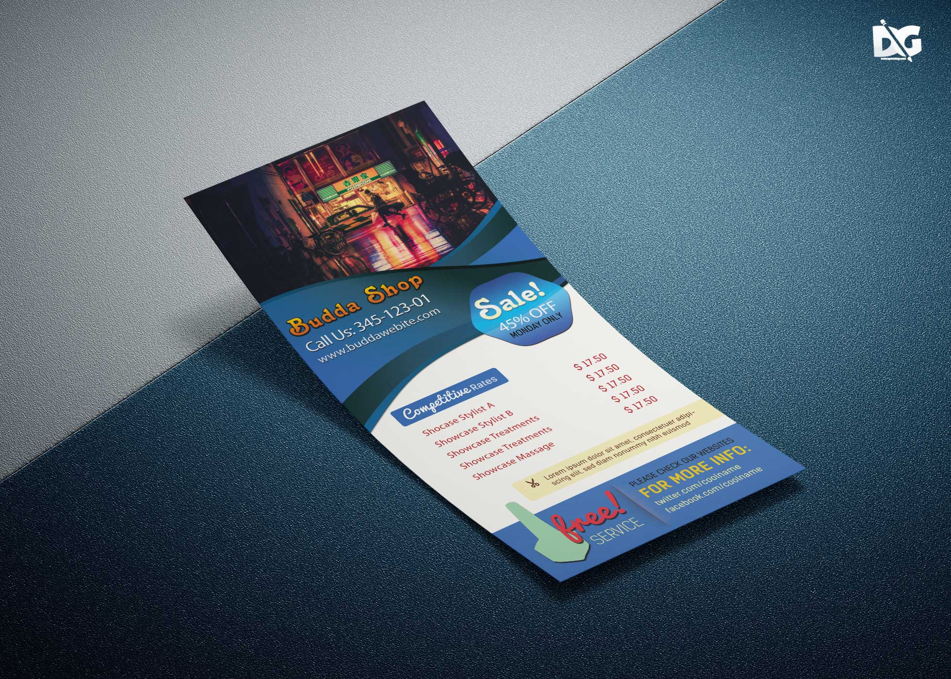 Free Download DJ host Rack Card PSD Template