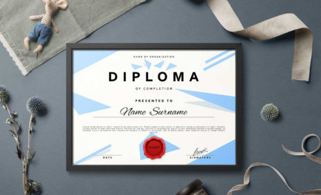 Free Download Diploma Certificate EPS Template