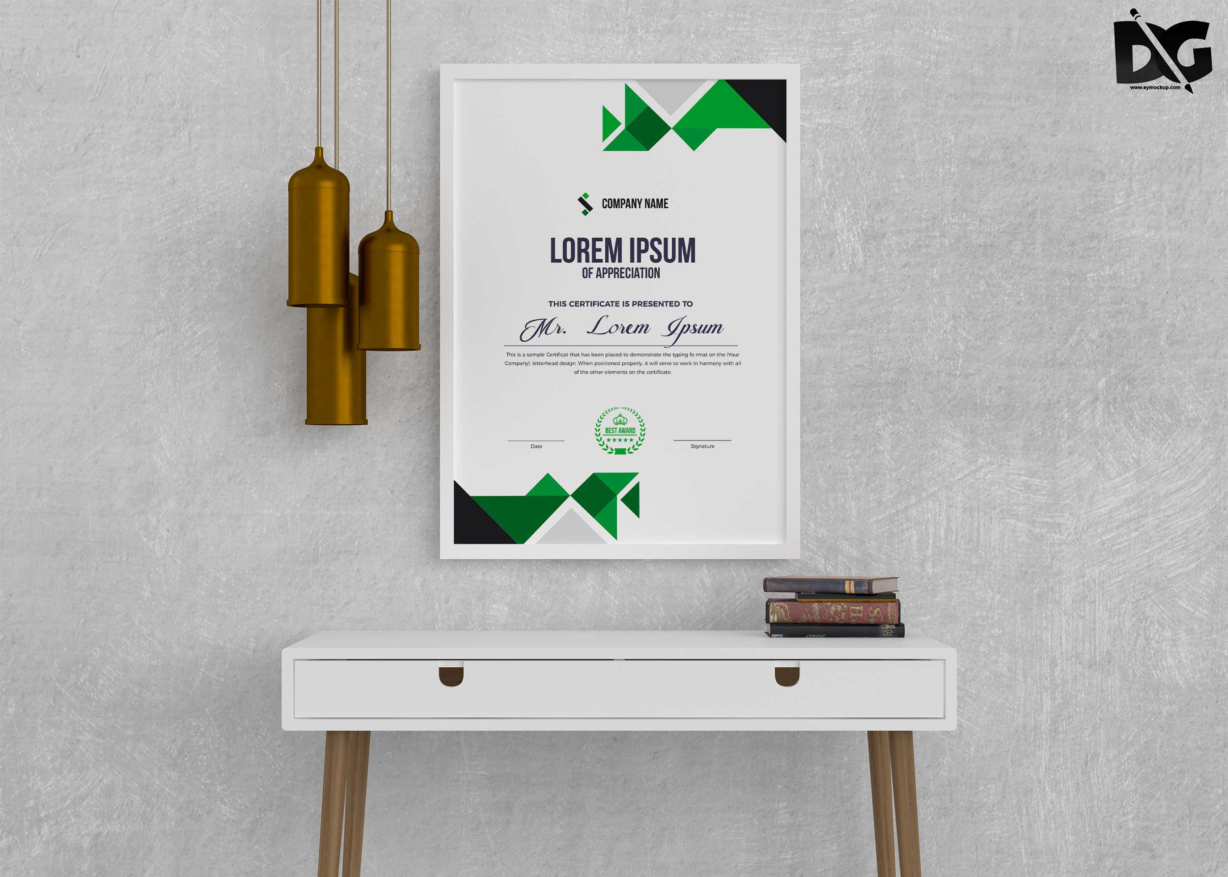 Free Download Eco Friendly Nature Certificate PSD Template