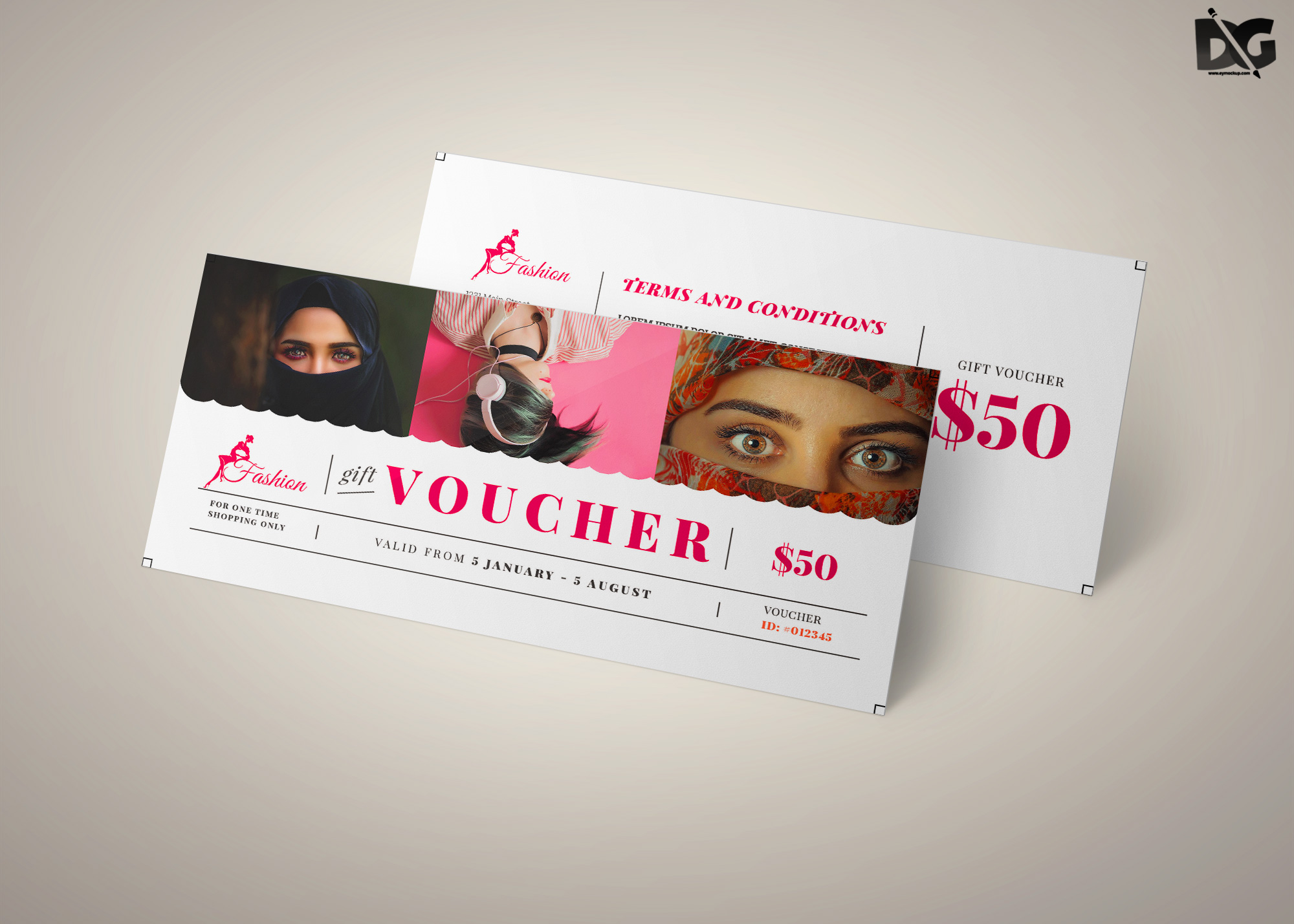 Free Download Fashion Shop Voucher Template