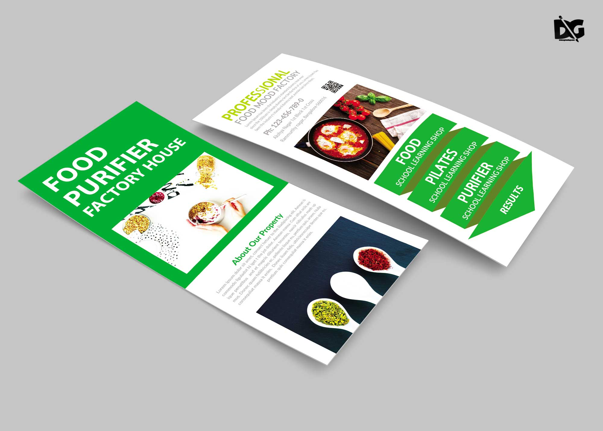 Free Download Food Packaging Rack Card Template