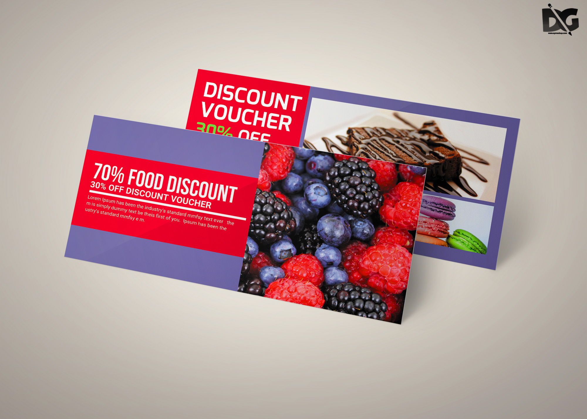 Free Download Fruit Juice Discount PSD Gift Card Template