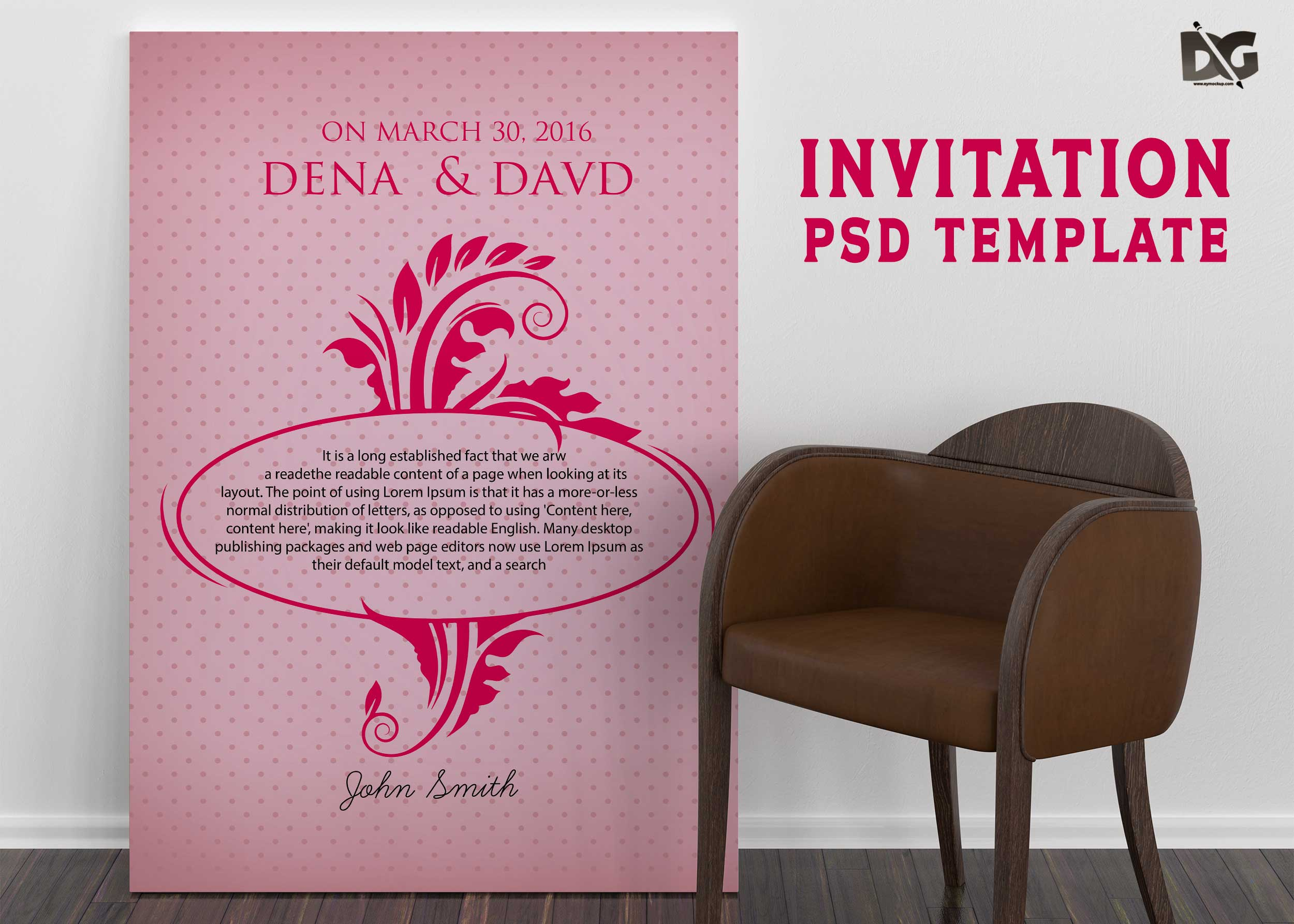 Free Download Invitation Flower Show PSD Template