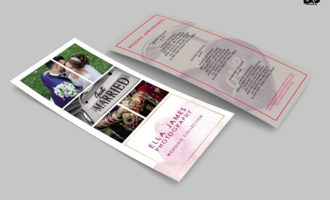 Free Download Just Marriage Rack Card Design