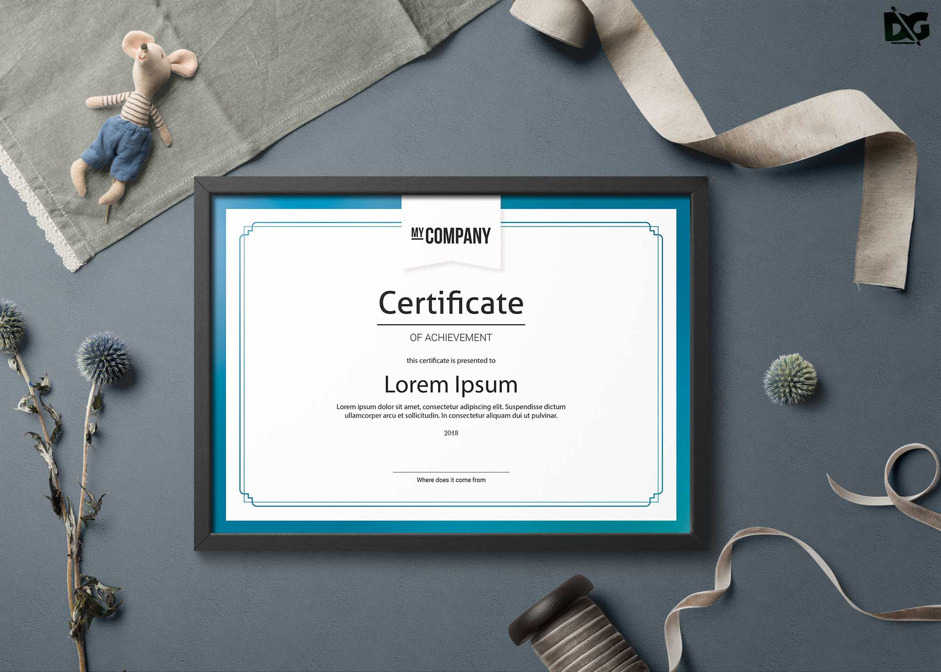 Free Download Psd Appreciation Certificate Templates Free Psd Mockup