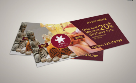 Free Download PSD Diwali Shoping Gift Card Template