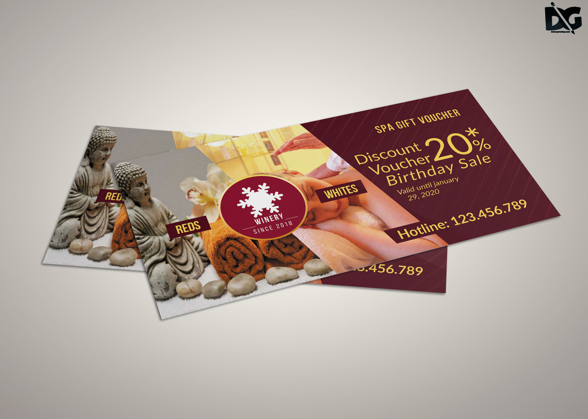 Free Download PSD Diwali Shopping Gift Card Template