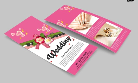 Free Download Wedding Proposal Rack Card Template