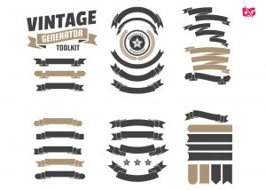 Zigzag Straight Badges Collection