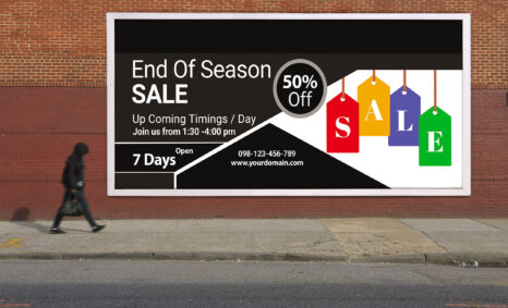 Free End of Sale Billboard PSD Template