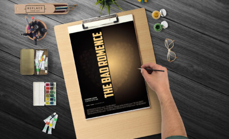 Free Face Poster PSD Template