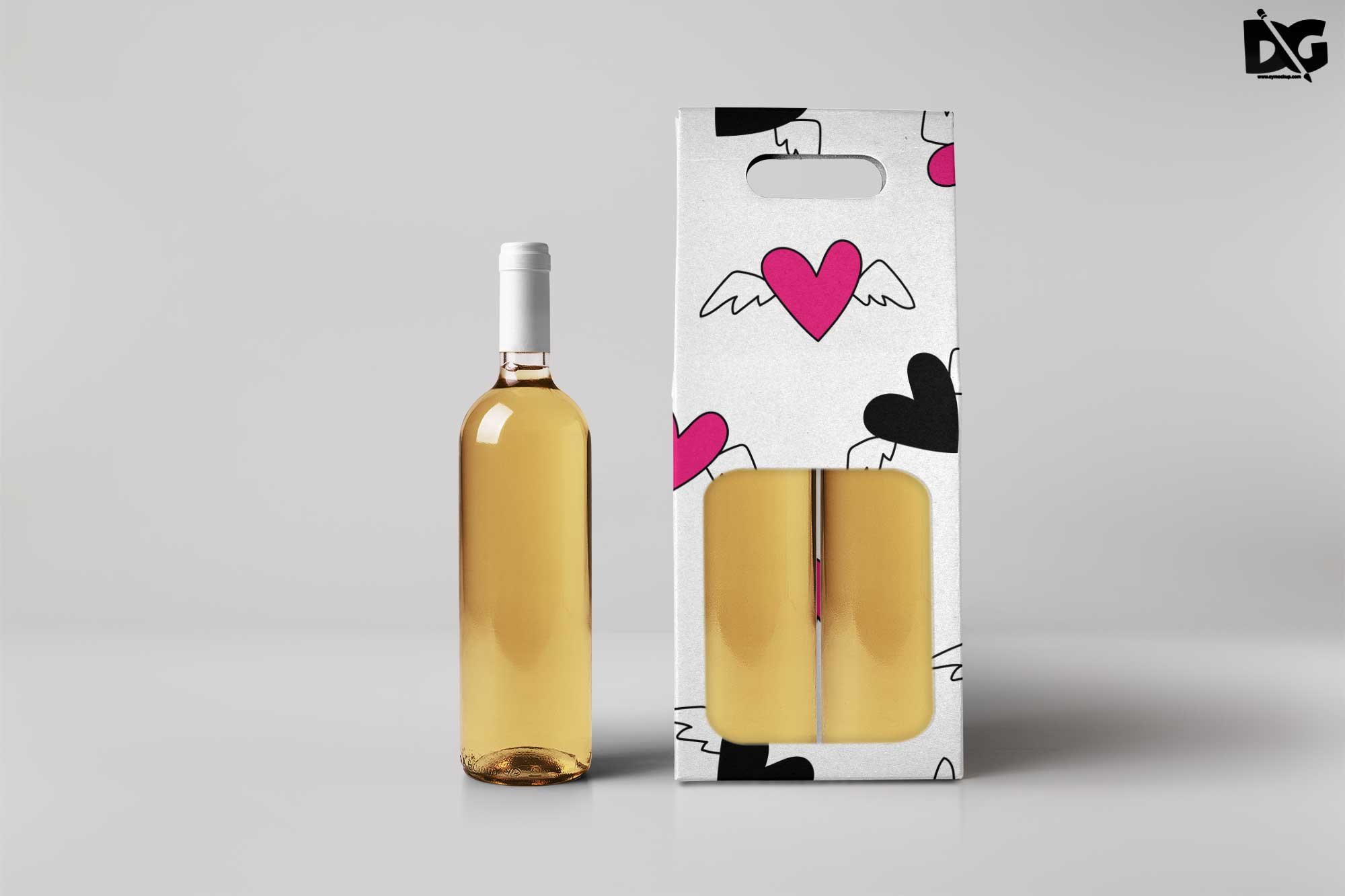 Free Wine Packaging Bag Mockup