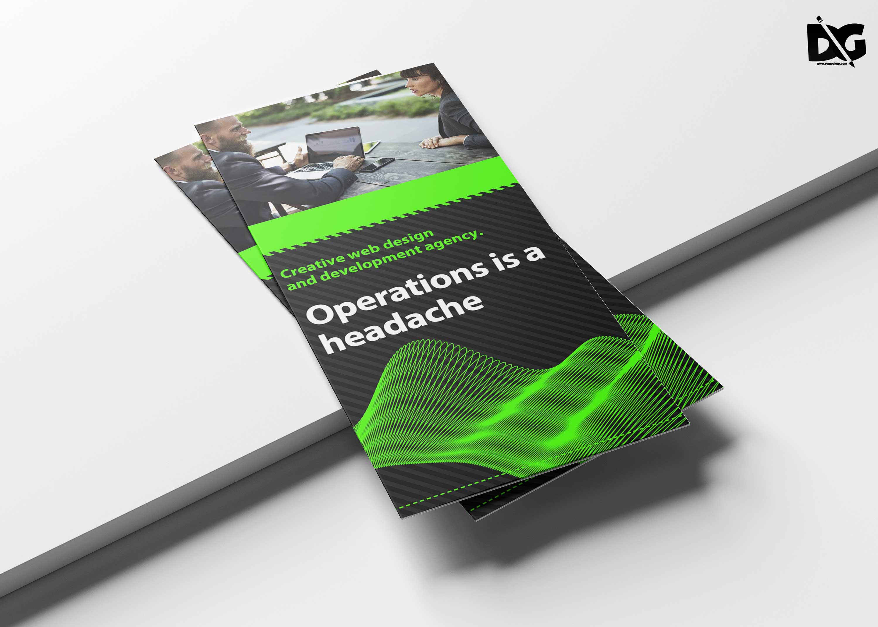 free operation tri fold brochure template free psd mockup