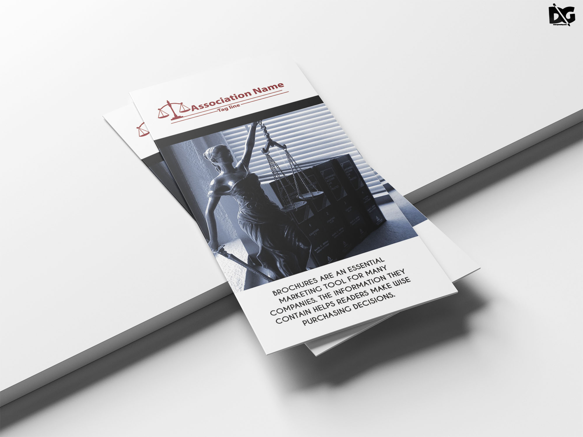 Free PSD Clean Law Form Tr-Fold Brochure Template