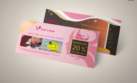 Free PSD Spa Lounge Gift Card Template