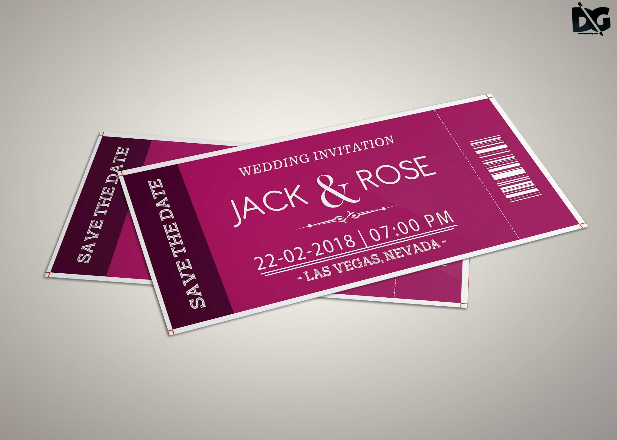 Free PSD Wedding Invitation Card Template