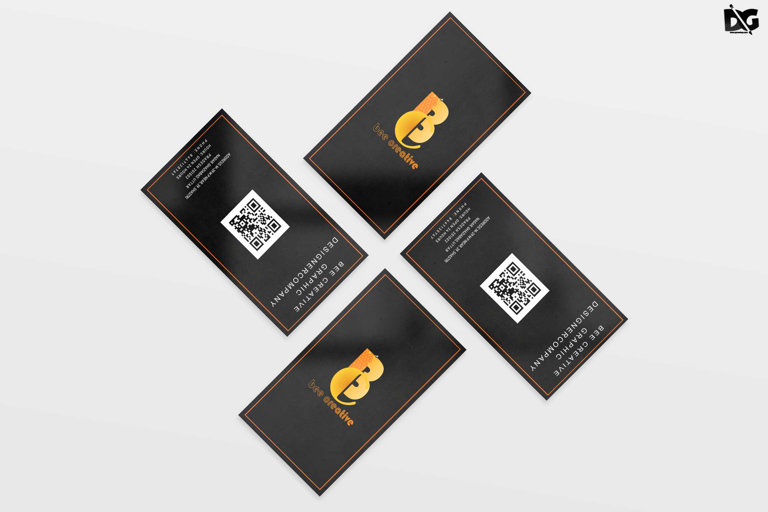 Free PSD Business Card Mock-up