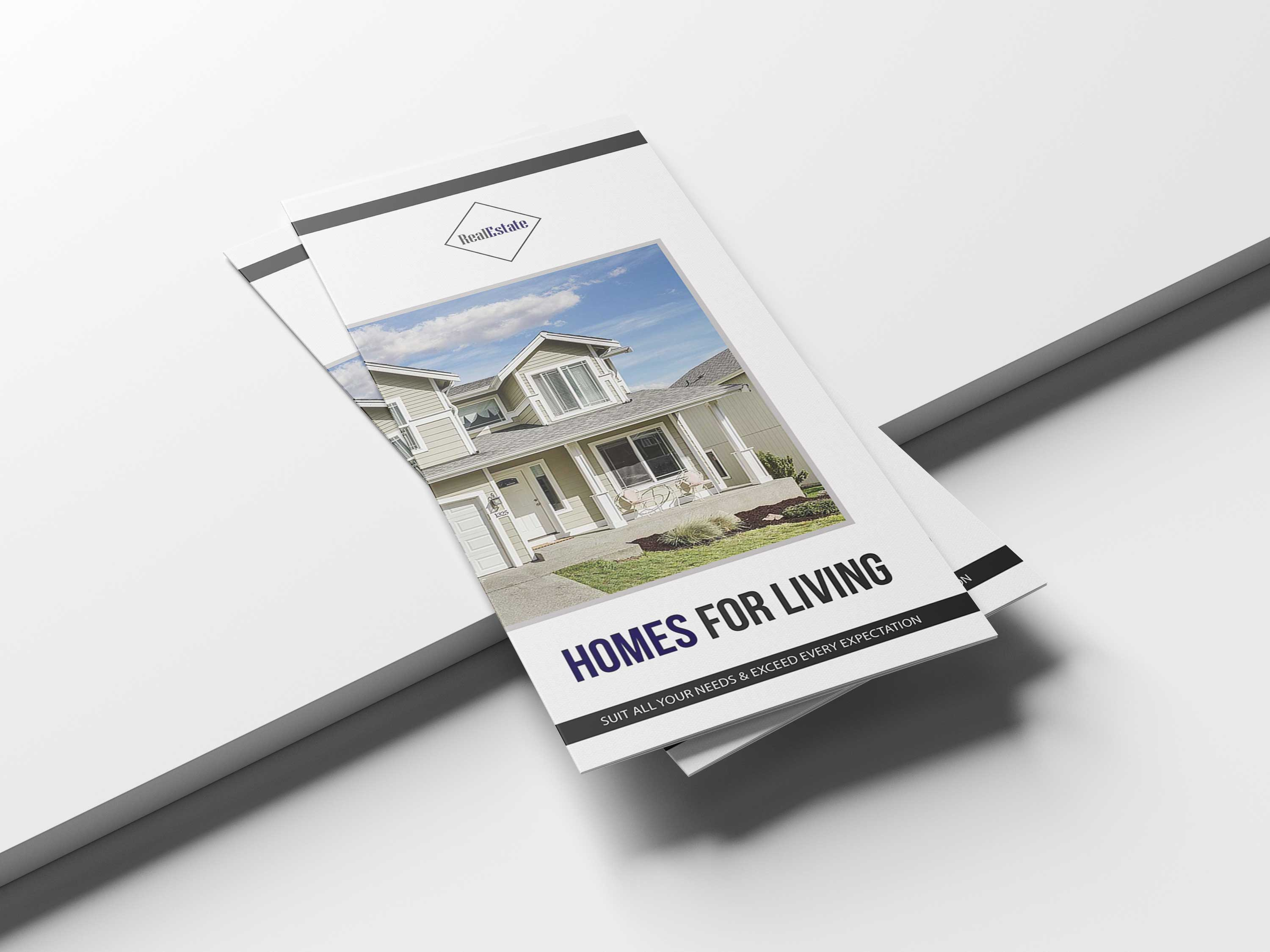 Free Real Estate Tri-Fold Brochure Template