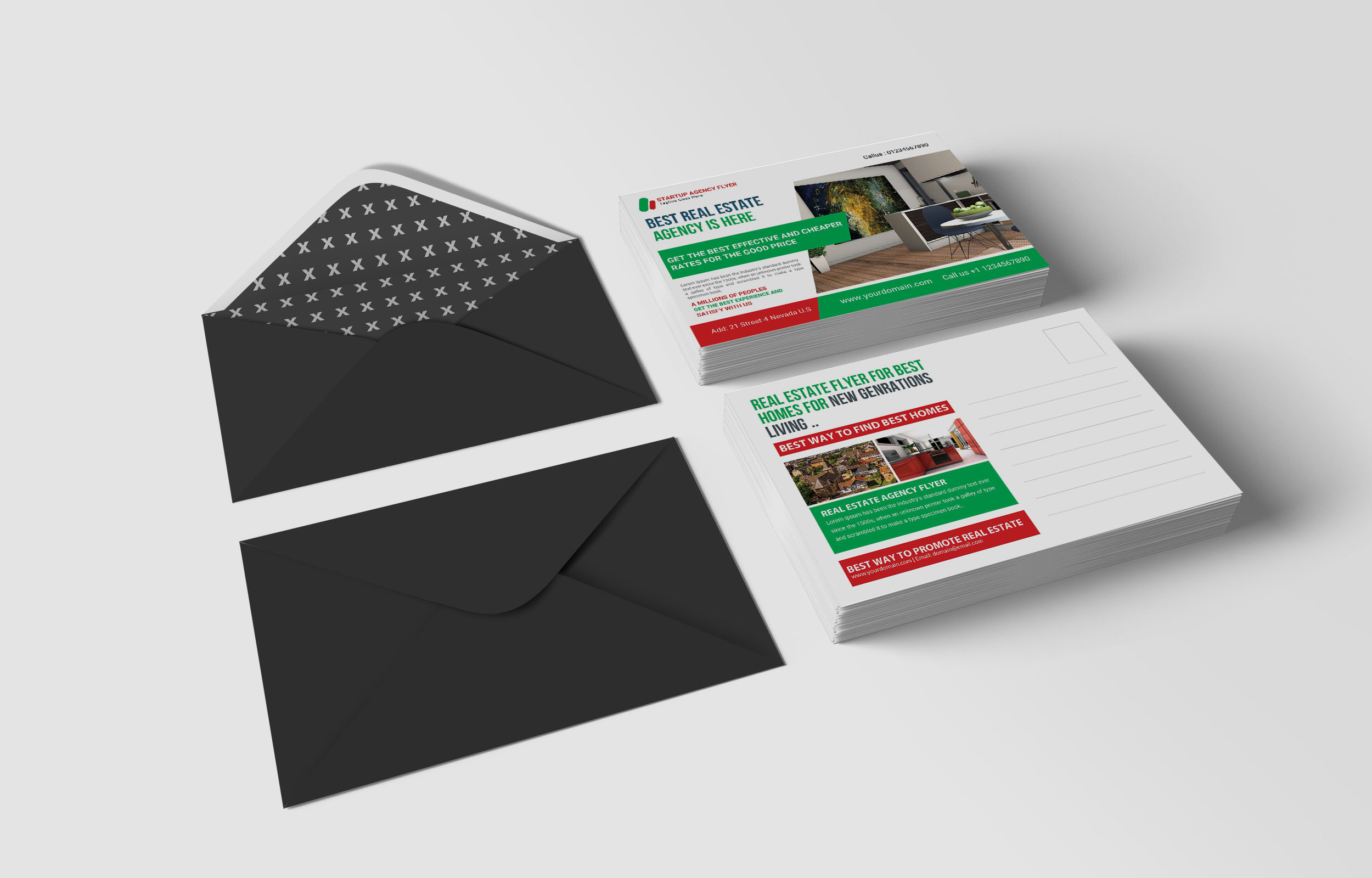 Free Real Estate Service Postcard Template