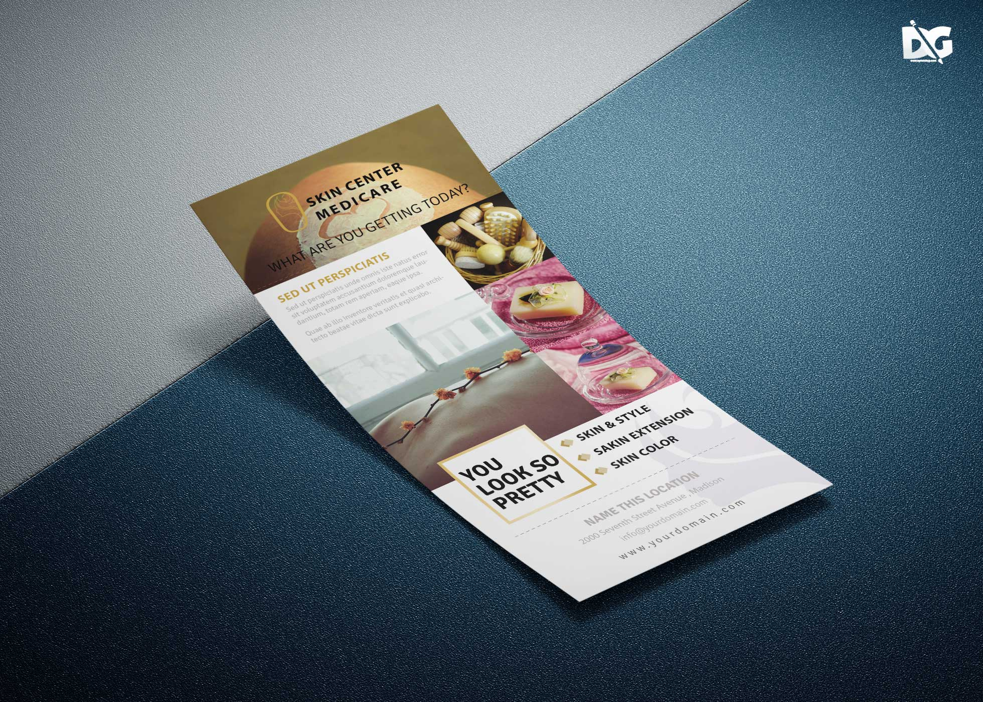 Free Skin Card Rack Card Design Template