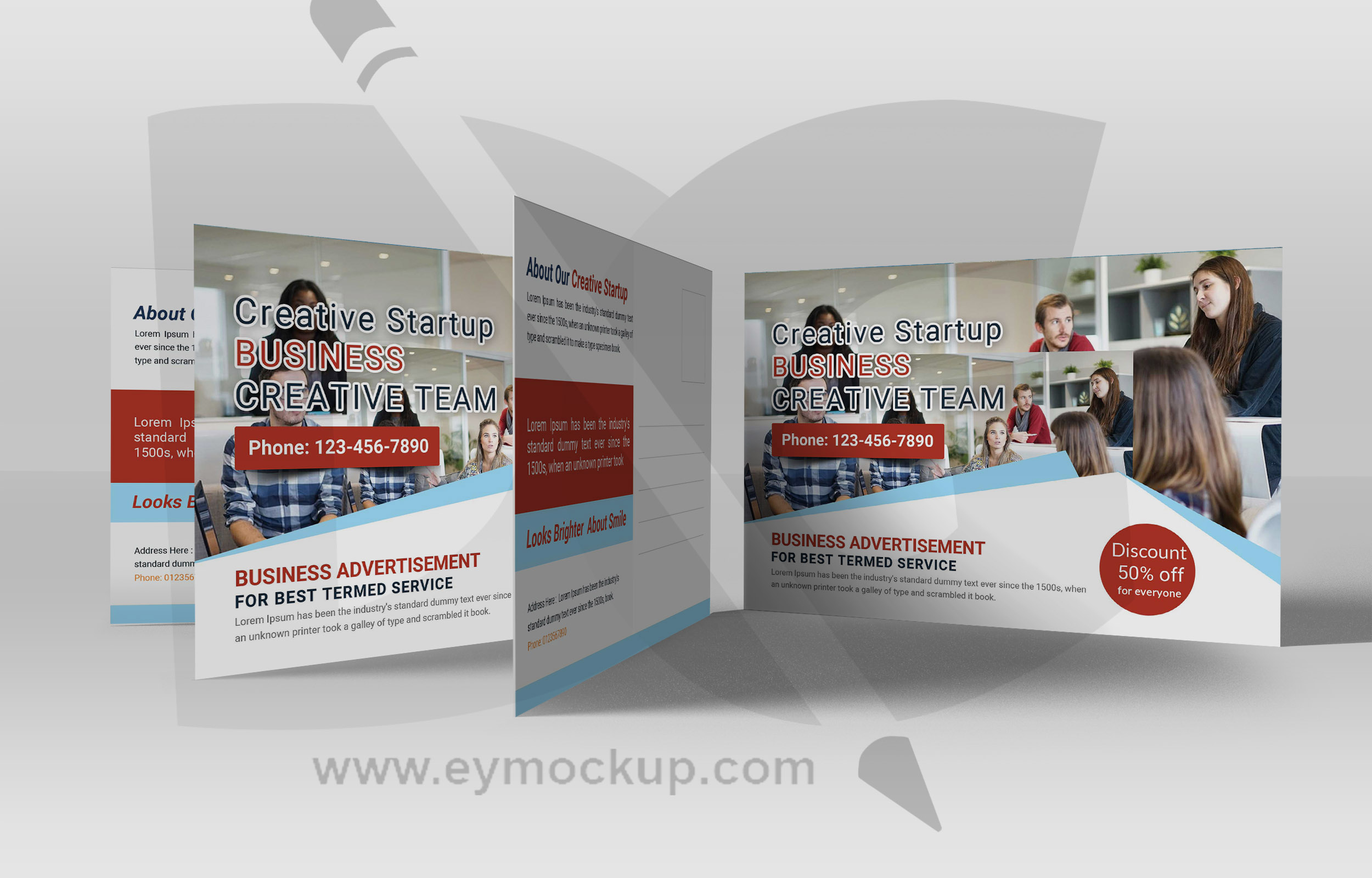 Free Start-up Business Postcard Template