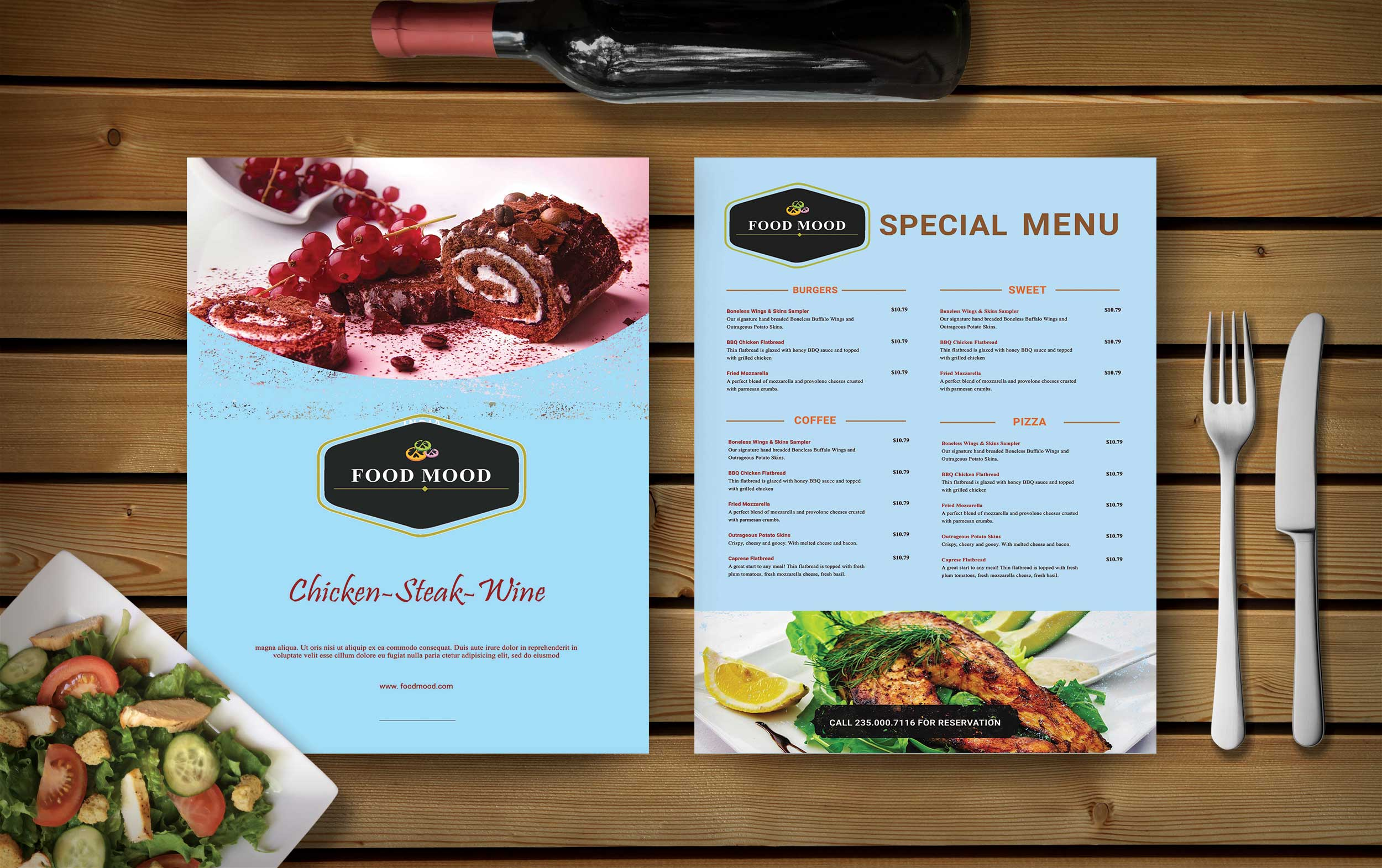 Free Sweet Shop Food Menu Template