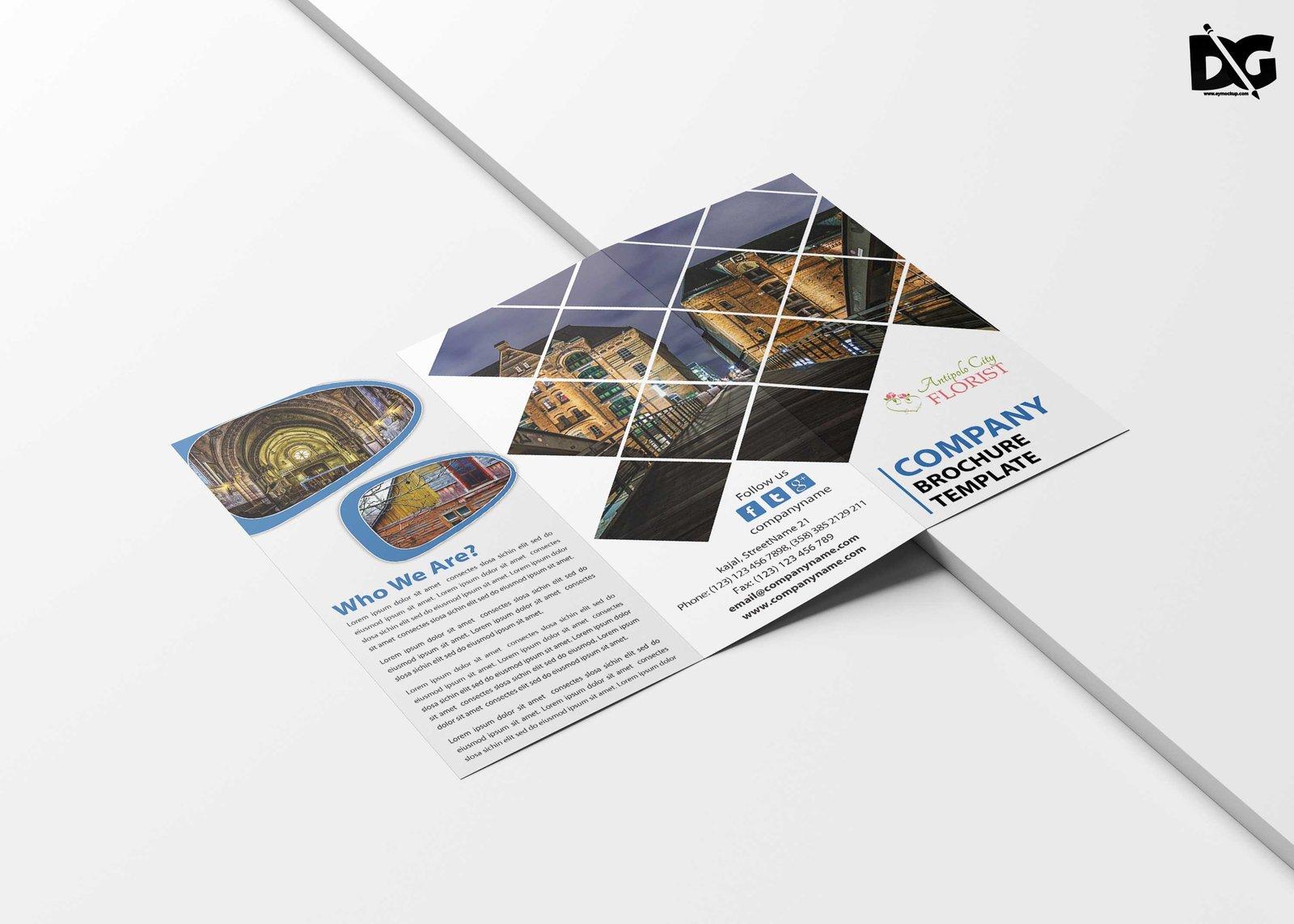 Free Tourist Holiday Tri-Fold Brochure