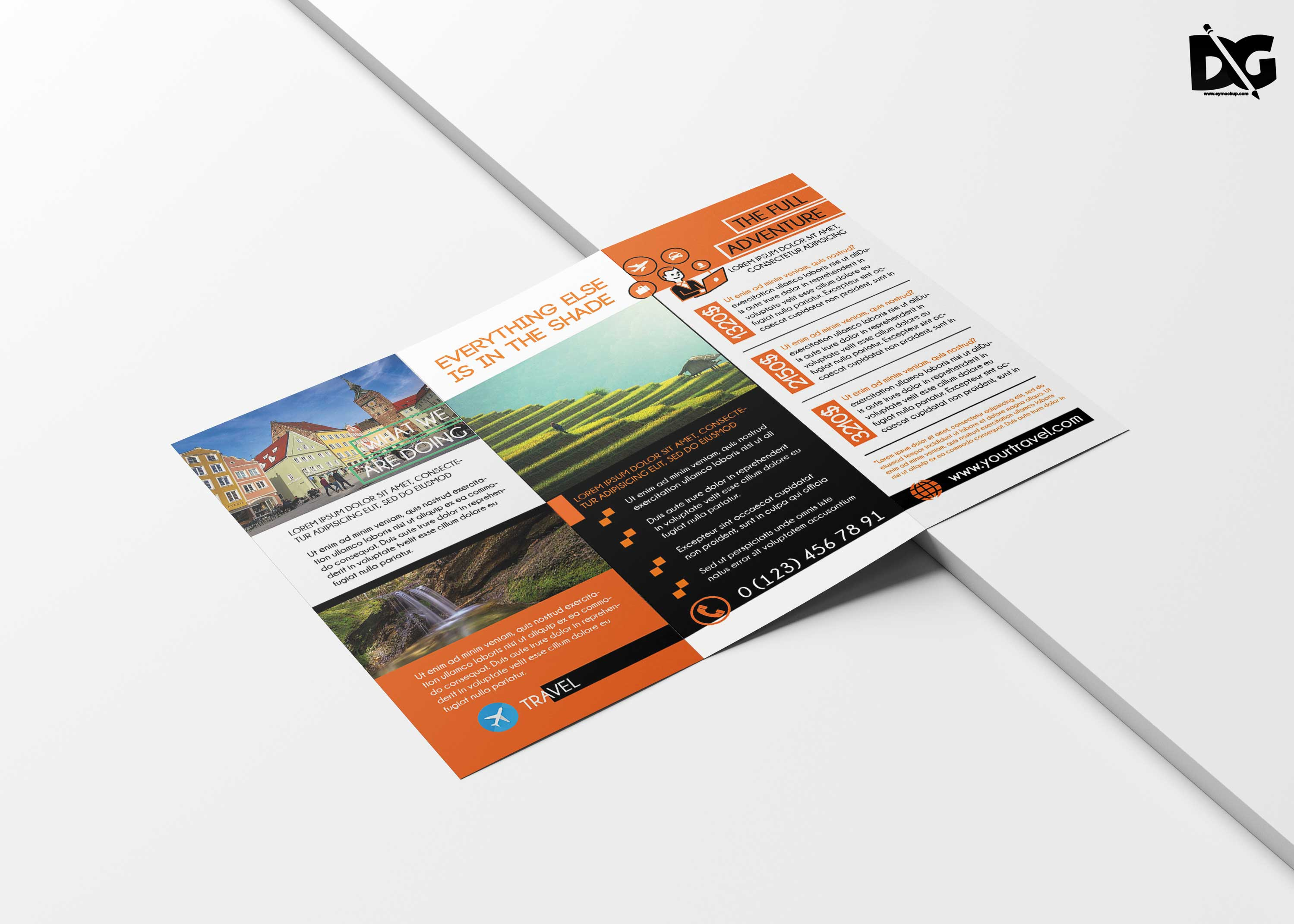 Free Travel Tri-Fold Brochure Template