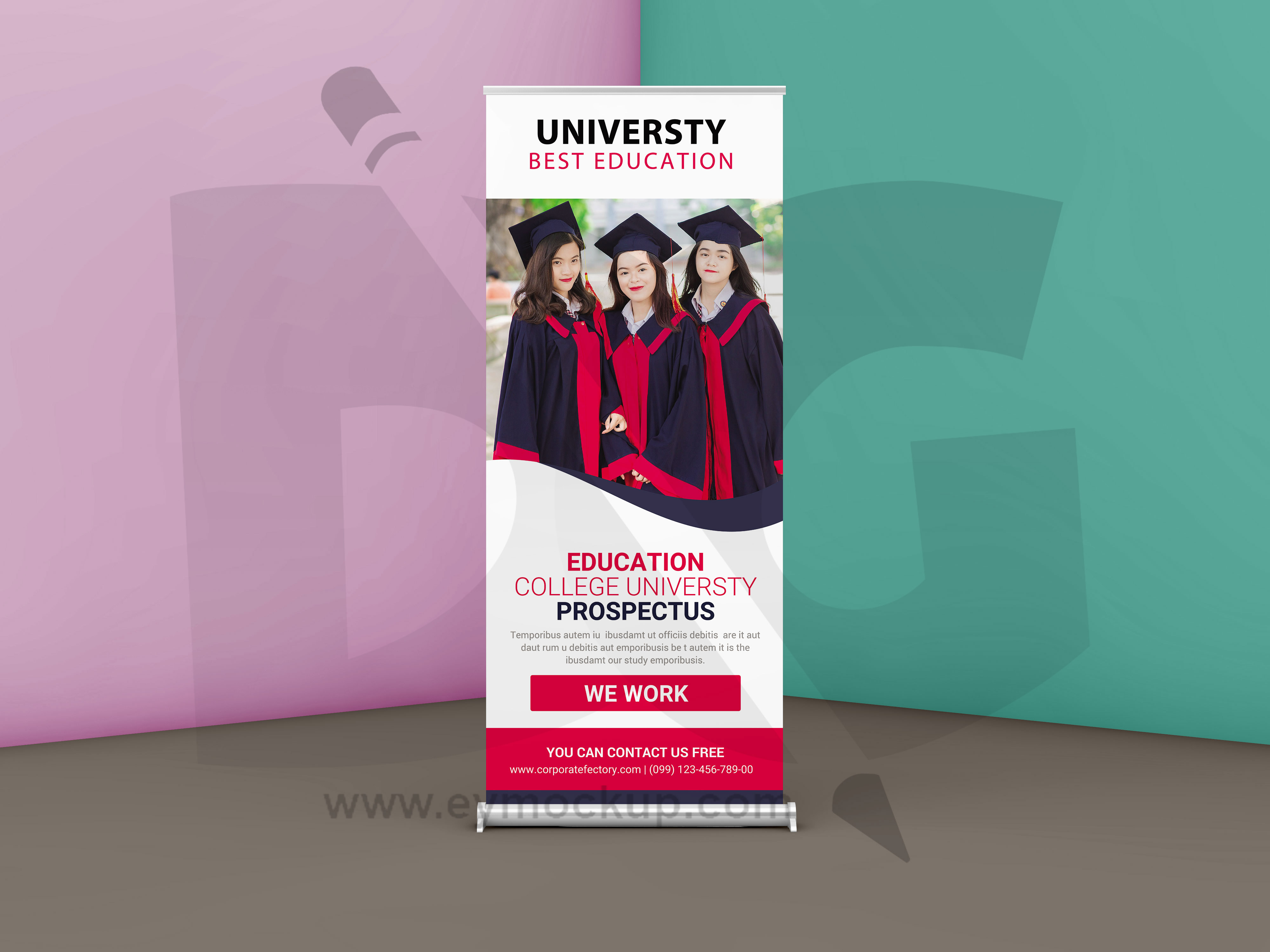 Free University Roll up Banner Template