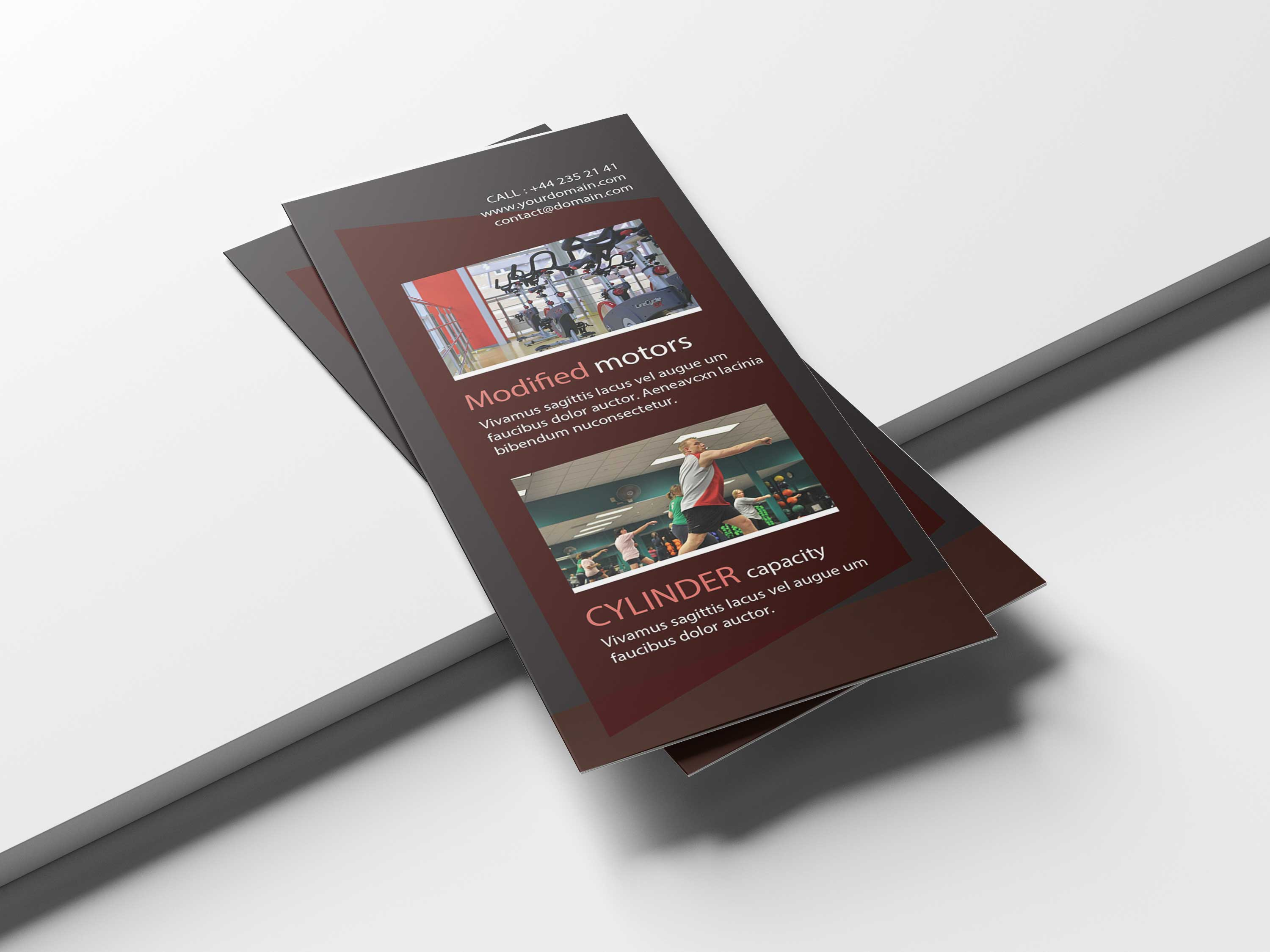 Free Yoga Assan Tri-Fold Brochure Template