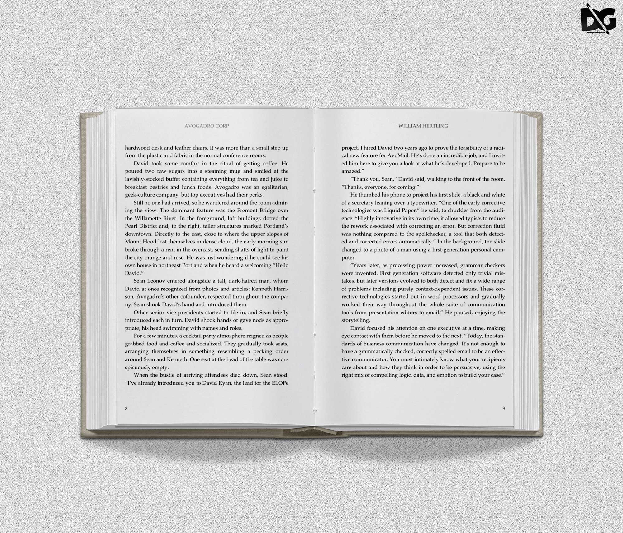 Free Open Book Mockup