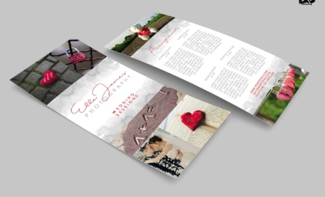 Free download Love Marriage Rack Card Template