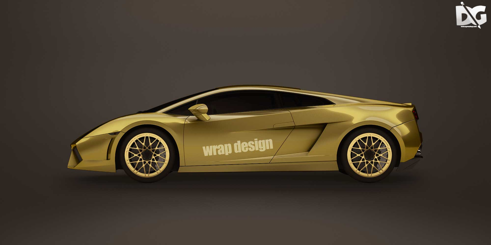 Free lamborgini Wrap Design Mockup