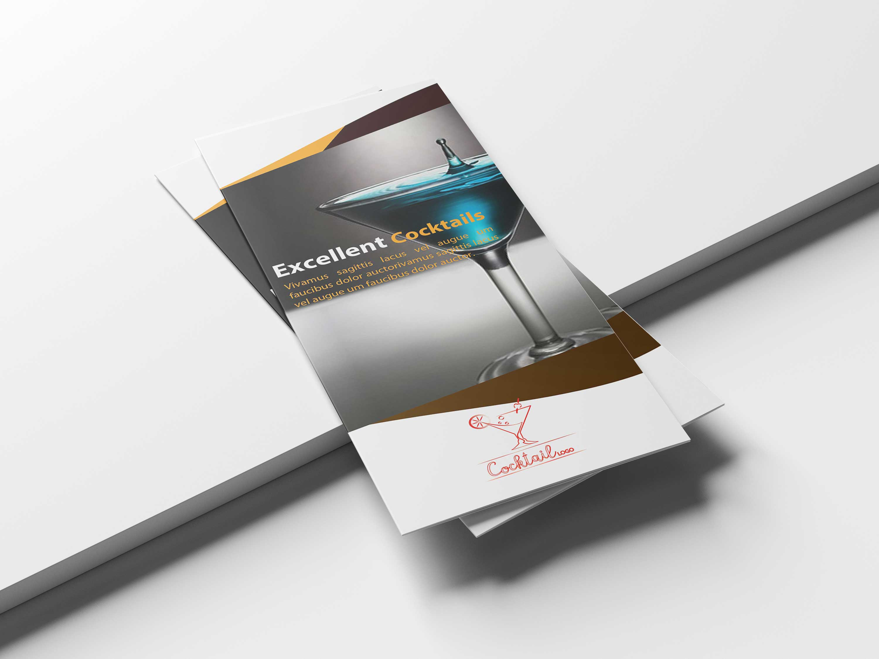 Free Beverage Tri-Fold Brochure Template