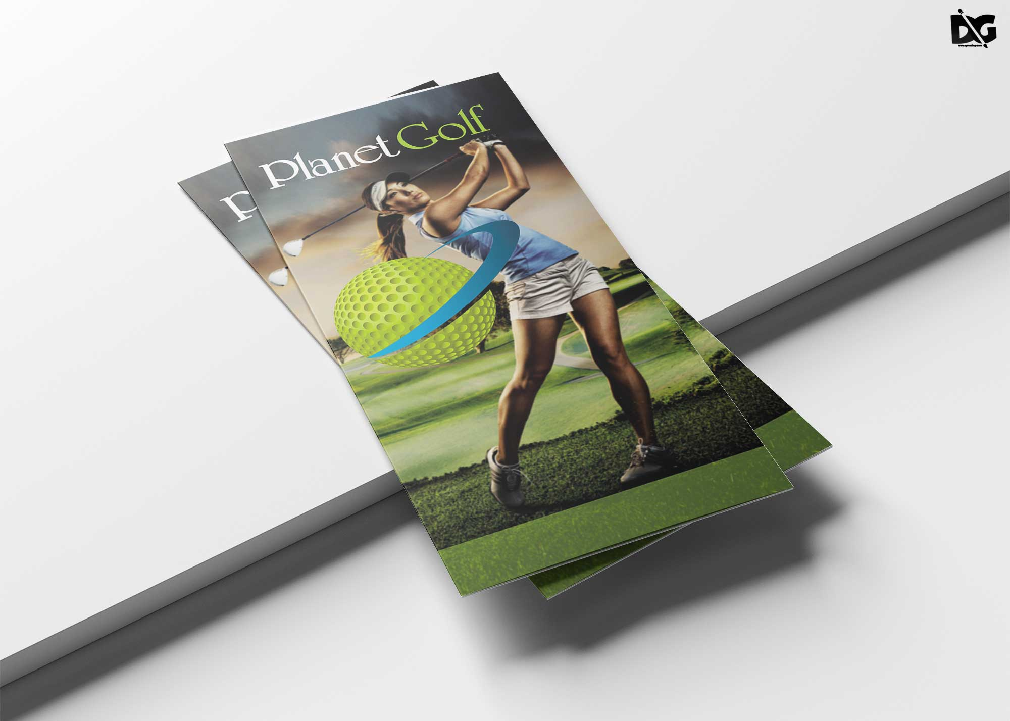 Free Download Golf Cart Tri-Fold Brochure Template