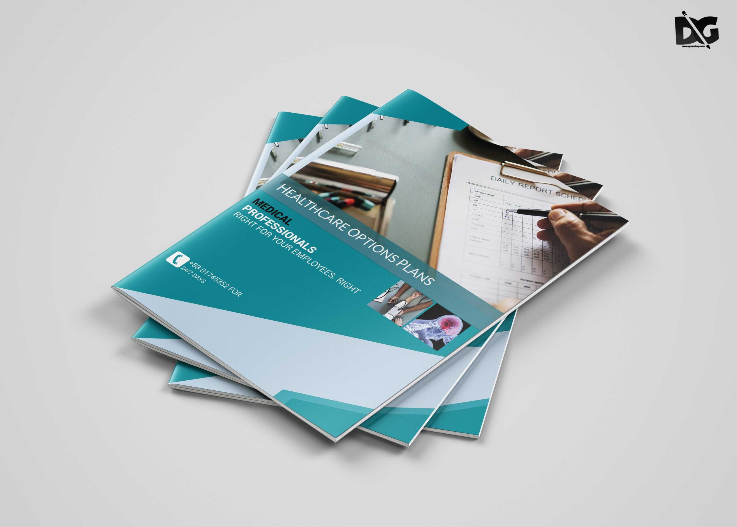 Free Download Health Care A4 Brochure Template
