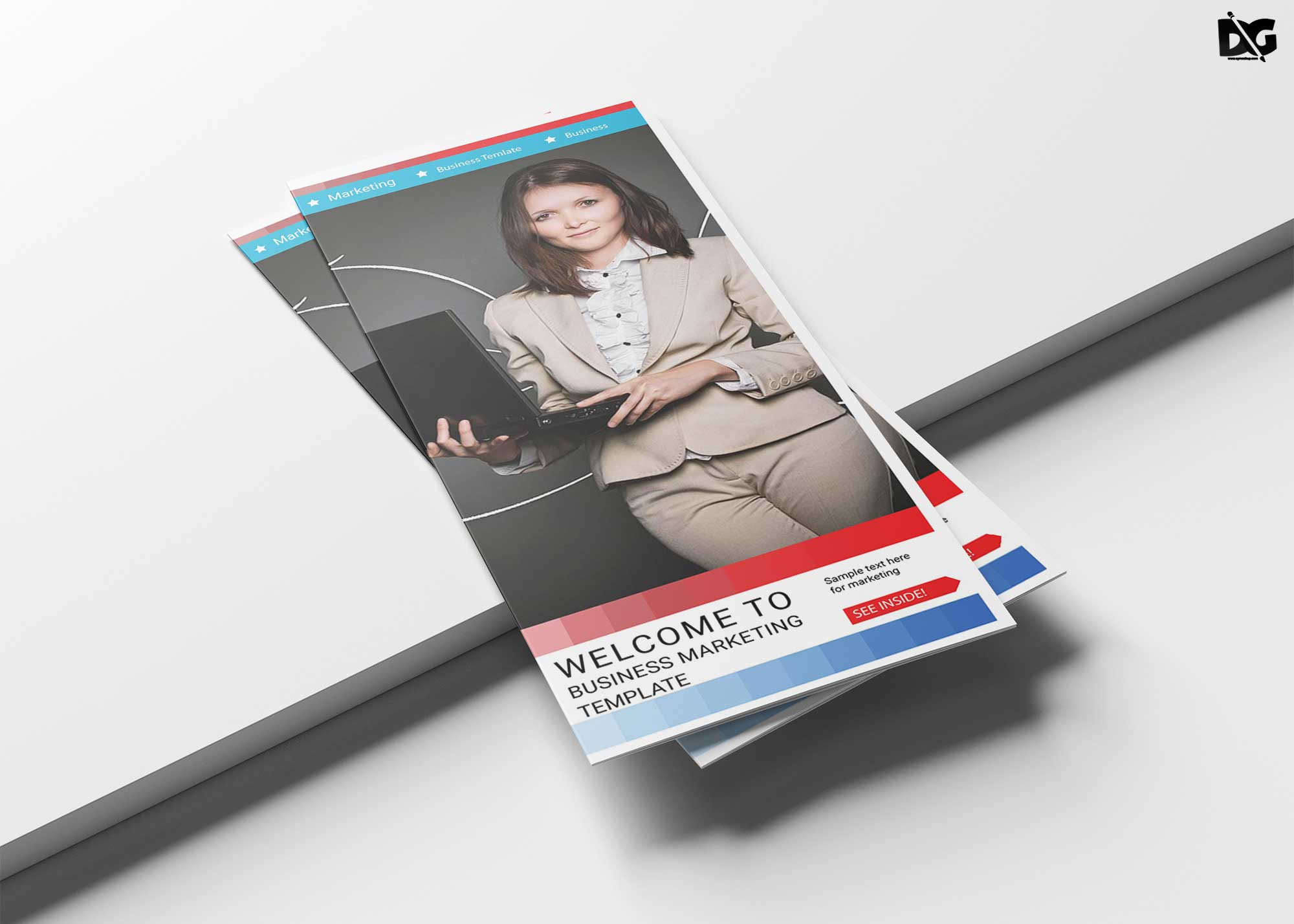 free marketing creative tri fold brochure template free psd mockup