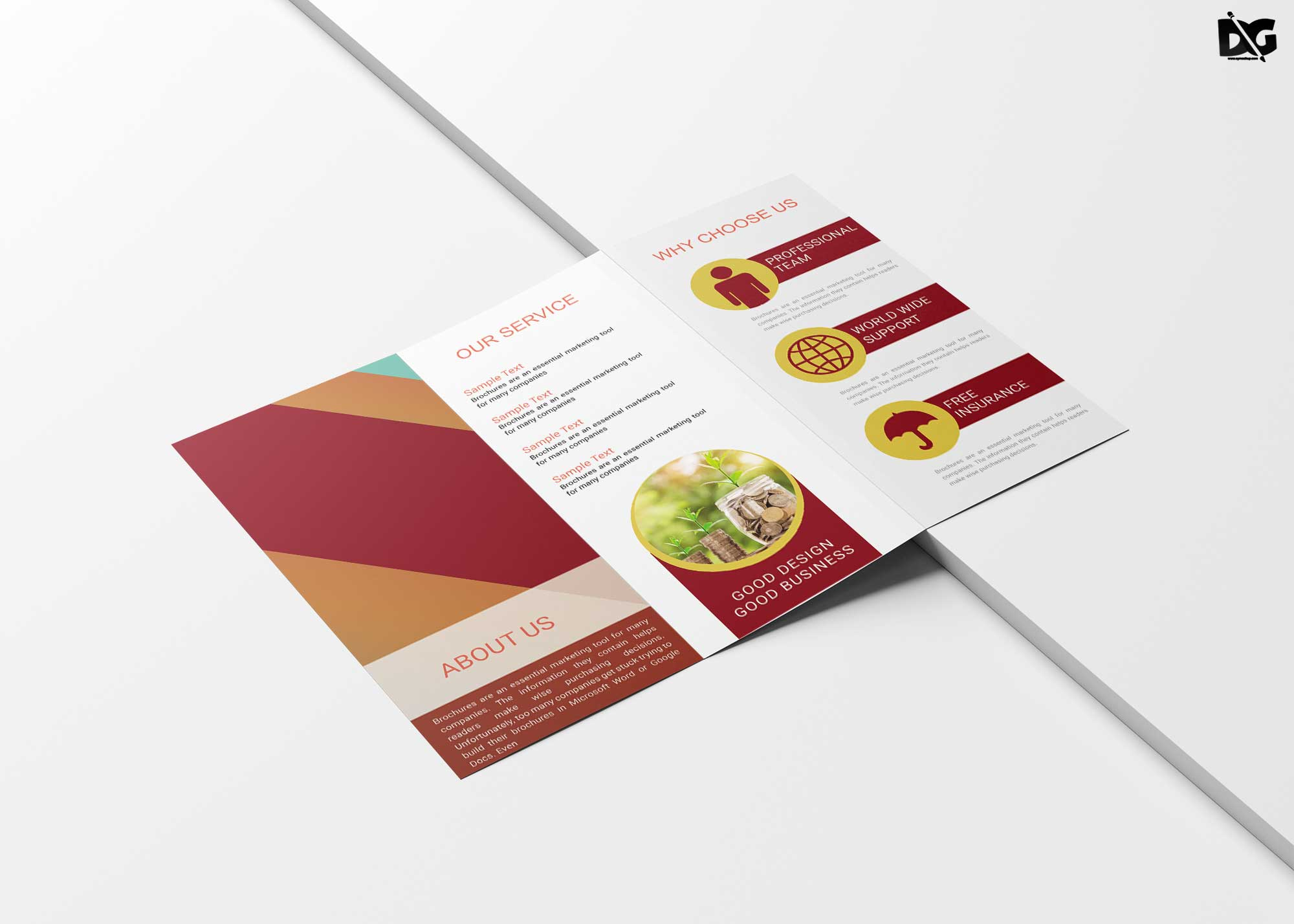 Free Download PSD Modern Tri-Fold Business Brochure ...