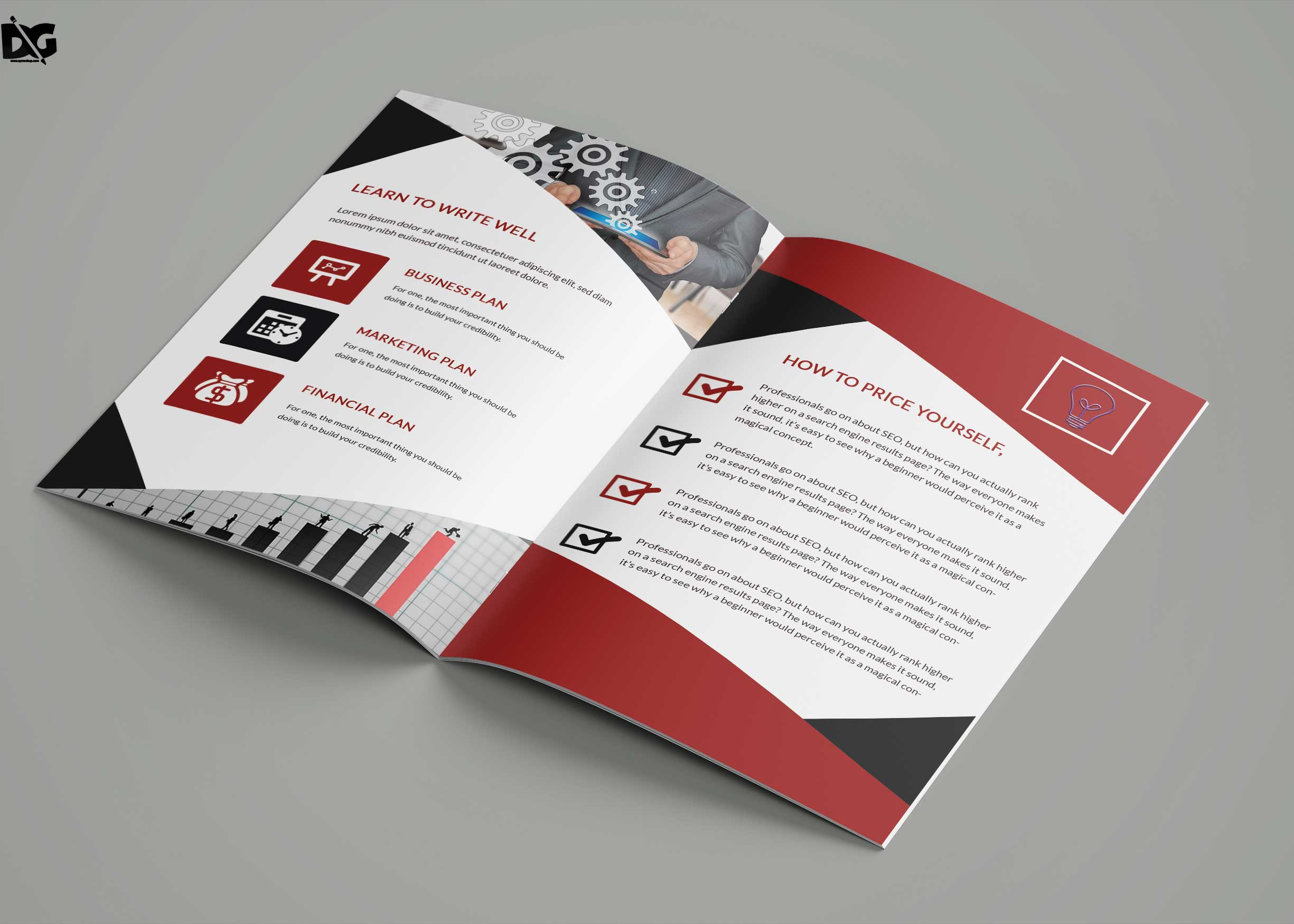 Free New Design Bi-Fold Brochure Template