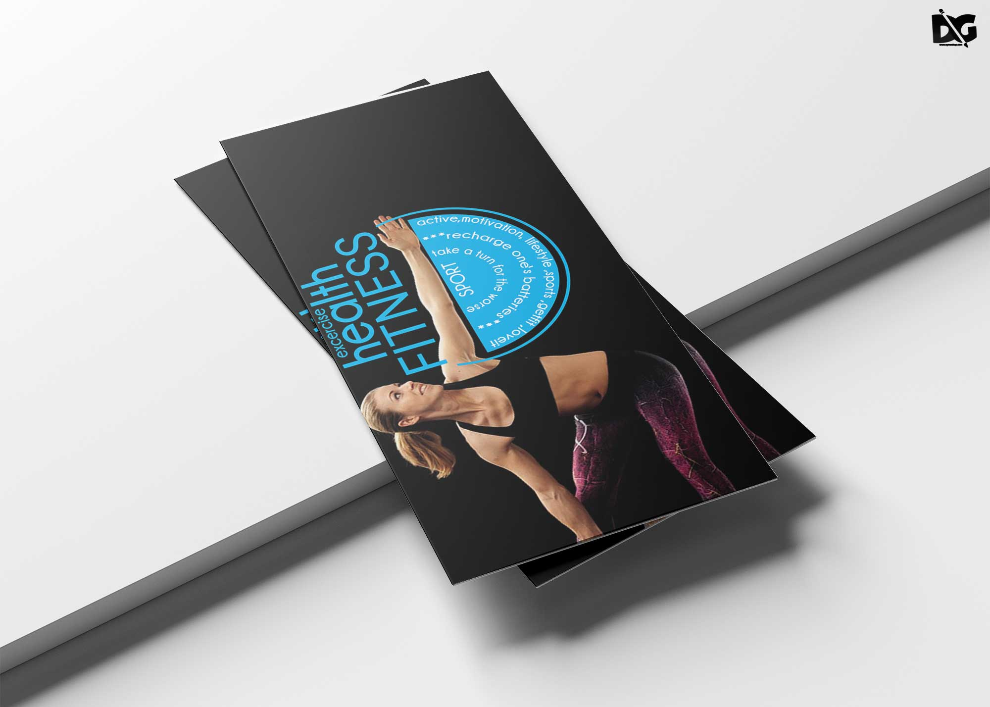 Free Download Fitness PSD Tri-Fold Brochure Template