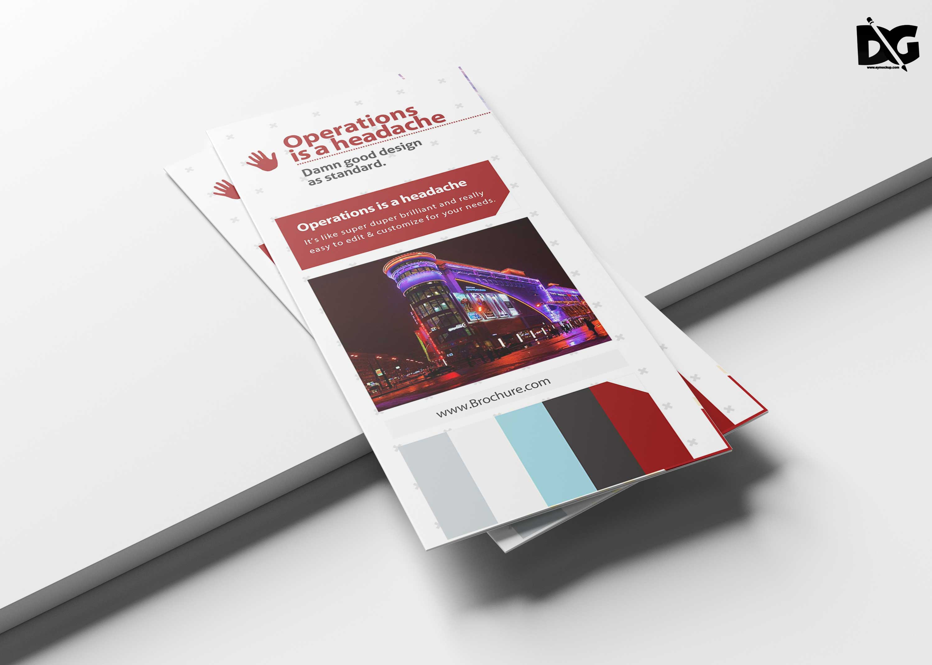 Free Download Hotel Salesman Tri-Fold Brochure Template