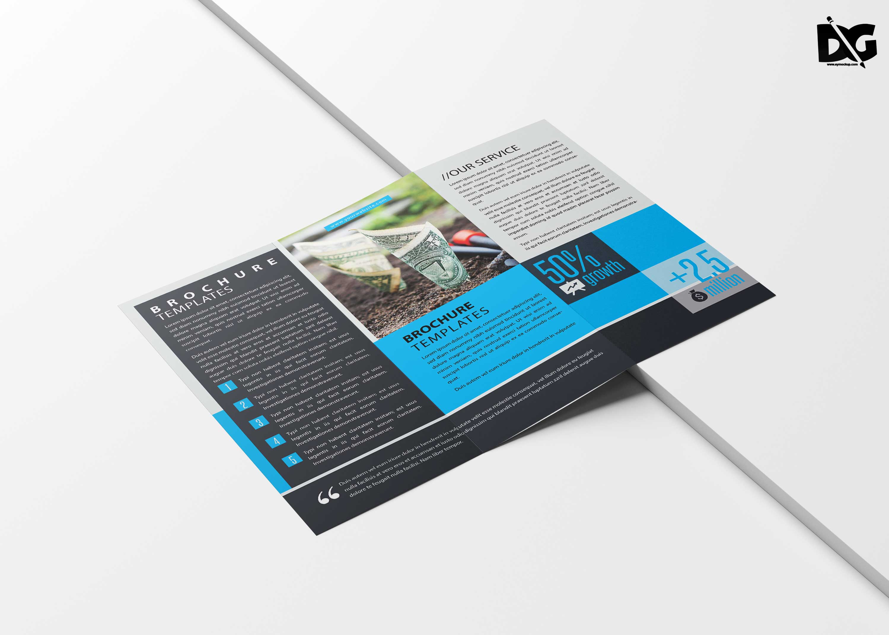Free Save Your Money Tri-fold Brochure Template