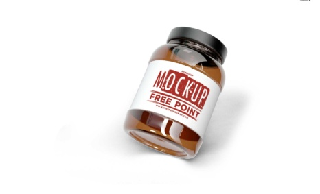 Free PSD Supplement Jar Mockup